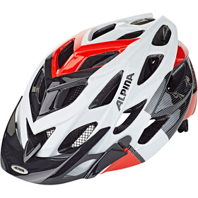 Alpina D-Alto Casco de bicicleta, white-black-red